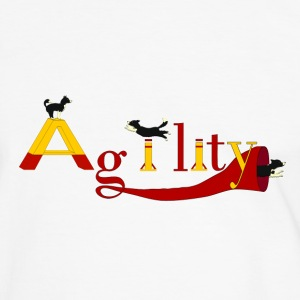 Agility: 3x Border Collie T-shirts - Herre kontrast-T-shirt