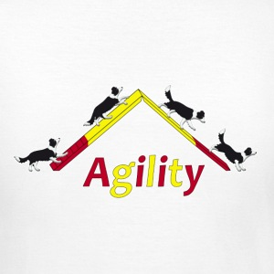 Agility 4x Border Collie T-shirts - Dame-T-shirt