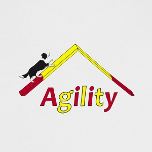 Agility Border Collie Tee shirts - T-shirt contraste Femme
