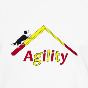 Agility Border Collie T-shirts - Herre kontrast-T-shirt