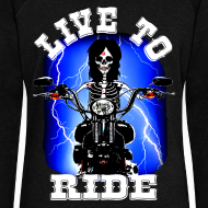 Motif ~ Pull femme live to ride