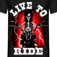 Motif ~ T shirt homme live to ride