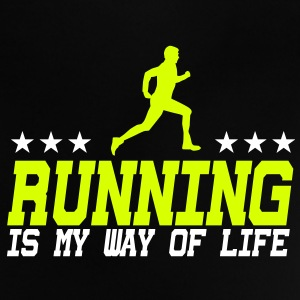 running is my way of life male 2c Tee shirts Bébés - T-shirt Bébé
