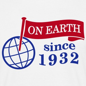 flag on earth since 1932  2c (dk) T-shirts - Herre-T-shirt