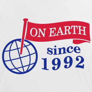 flag on earth since 1992  2c (es) Camisetas - Camiseta contraste mujer
