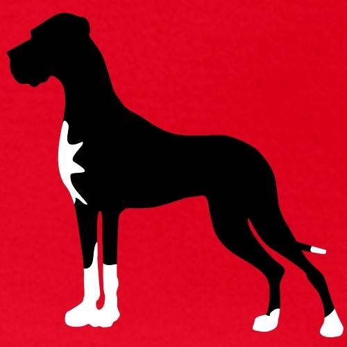 Schwarze Dogge mit Abzeichen