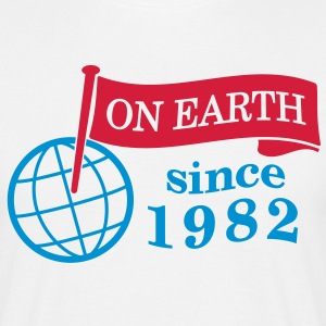 flag on earth since 1982  2c (dk) T-shirts - Herre-T-shirt