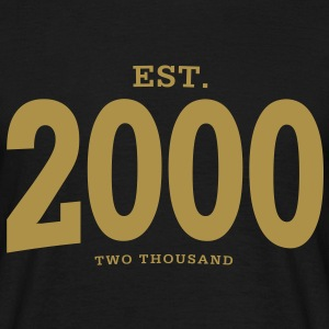 EST. 2000 Two Thousand - Männer T-Shirt