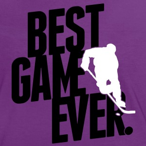 ice hockey - best game ever T-shirts - Dame kontrast-T-shirt