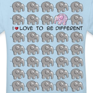 I love to be different - elephant Kids' Shirts - Kids' Organic T-shirt