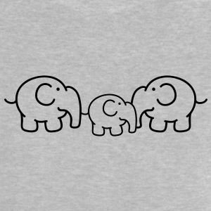 Small family of elephants Baby Shirts  - Baby T-Shirt