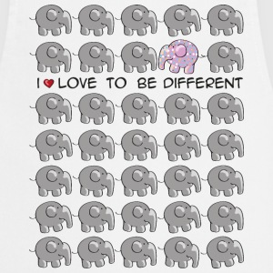 I love to be different - elephant Fartuchy - Fartuch kuchenny