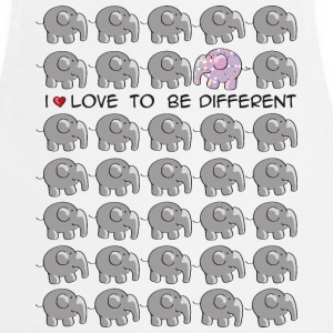 I love to be different - elephant Kookschorten - Keukenschort