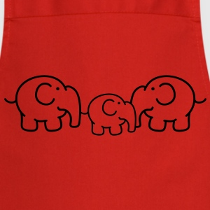 Small family of elephants  Aprons - Cooking Apron