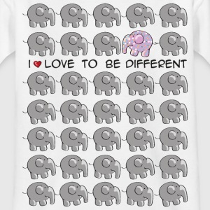 I love to be different - elephant Barn-T-shirts - T-shirt barn