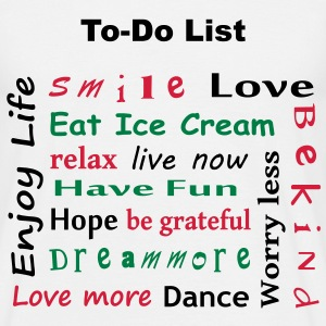 To Do List - enjoy life T-Shirts - Koszulka męska