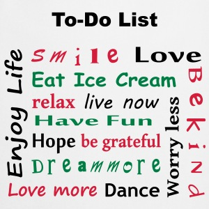 profiter de la vie - To Do List - enjoy life - Tablier de cuisine