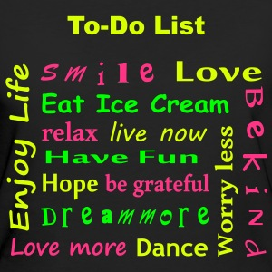 To Do List - enjoy life T-Shirts - Ekologisk T-shirt dam