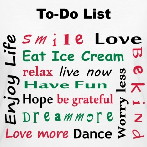 To Do List - enjoy life T-Shirts - Frauen Bio-T-Shirt