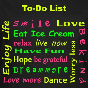 To Do List - enjoy life T-Shirts - Koszulka damska