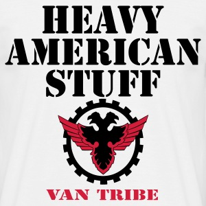 MEN`S CLASSIC T-SHIRT - HEAVY AMERICAN STUFF by VAN TRIBE FASHION - T-shirt herr
