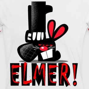 White/red ELMER! Women's Tees - Women's Ringer T-Shirt