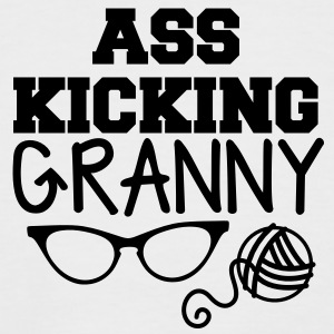 Ass kicking GRANNY with glasses and wool T-Shirts - Men's Baseball T-Shirt