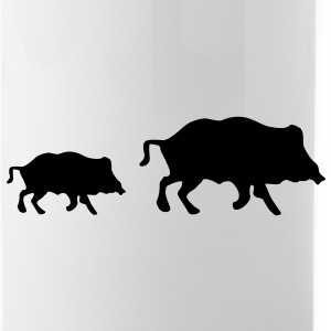 wild boars Bottles & Mugs - Water Bottle