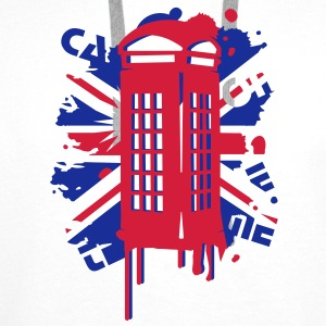 red telephone box with a British flag Hoodies & Sweatshirts - Men's Premium Hoodie