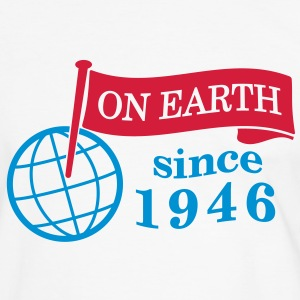 flag on earth since 1946  2c (fr) Tee shirts - T-shirt contraste Homme