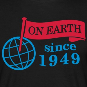 flag on earth since 1949  2c (dk) T-shirts - Herre-T-shirt