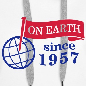 flag on earth since 1957  2c (nl) Sweaters - Vrouwen Premium hoodie