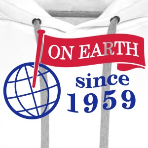 flag on earth since 1959  2c (nl) Sweaters - Mannen Premium hoodie