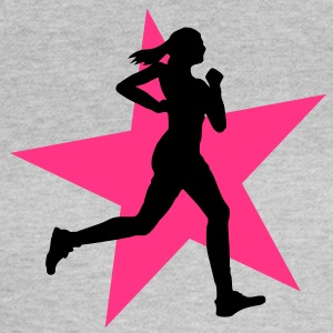running woman with star 2c / jogging T-Shirts - Women's T-Shirt