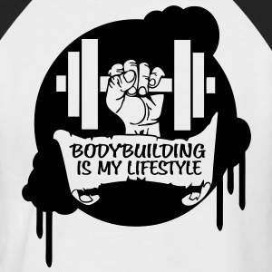 Bodybuilding is my Lifestyle Drips Direct T-Shirts - Men's Baseball T-Shirt