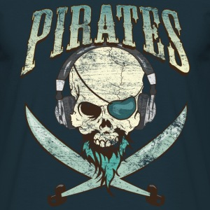 Music Pirate - Navy Blue - Männer T-Shirt