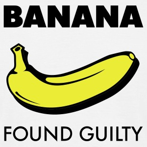Weiß Banana found guilty © T-Shirts - T-skjorte for menn