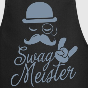 Funny Swag Meister with fashionable moustache like a cool sir t-shirts for geek, stag do, mad birthday  Aprons - Cooking Apron