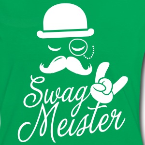 Funny Swag Meister with fashionable moustache like a cool sir t-shirts for geek, stag do, mad birthday T-Shirts - Women's Ringer T-Shirt