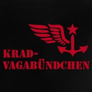 Motiv ~ KRAD-VAGABÜNDCHEN - Baby-T-Shirt (roter Aufdruck)