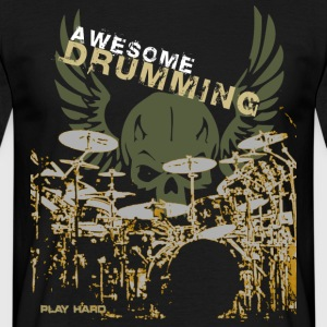 awesome_drumming_grunge T-Shirts - Männer T-Shirt