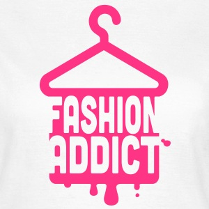 Cool iconic Fashion Addict t-shirts for geek chic fashionista i love clothes shopping T-Shirts - Women's T-Shirt