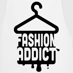 Cool iconic Fashion Addict t-shirts for geek chic fashionista i love clothes shopping  Aprons - Cooking Apron
