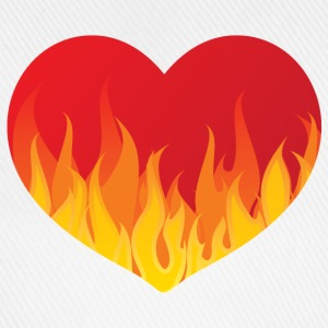 Heart with fire - Baseballkappe