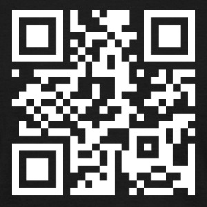 QR code we are anonymous - Mannen T-shirt