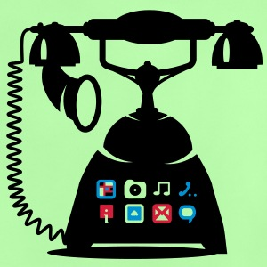 An antique telephone with different applications Baby Shirts  - Baby T-Shirt