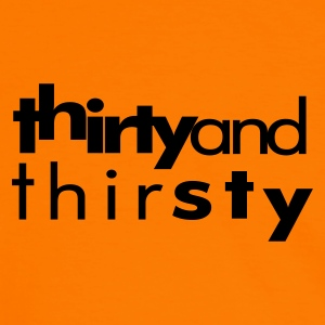Orange/schwarz thirty & thirsty 2 T-Shirts - Männer Kontrast-T-Shirt