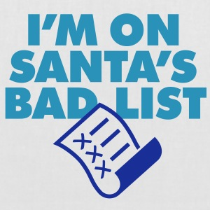 Im On Santas Bad List 1 (2c)++ bolsas - Bolsa de tela