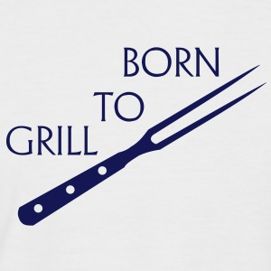 Born to grill barbecue, kok, grill master, grill master, grillen, bbq, barbecue, T-shirts. - Mannen baseballshirt korte mouw