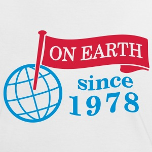 flag on earth since 1978  2c (dk) T-shirts - Dame kontrast-T-shirt